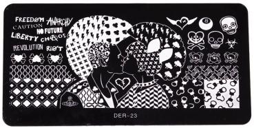 XL Stamping Schablone DER-23