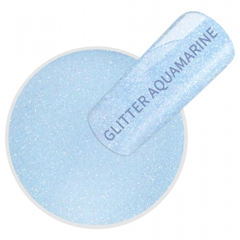 Acryl Dipping Powder glitter aquamarine